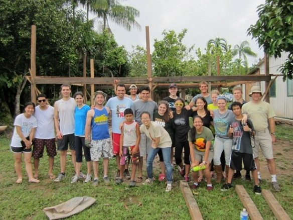 This past spring, PUC students went to Manaus, Brazil to to build a health clinic, provide water filters and water education, and teach English classes.