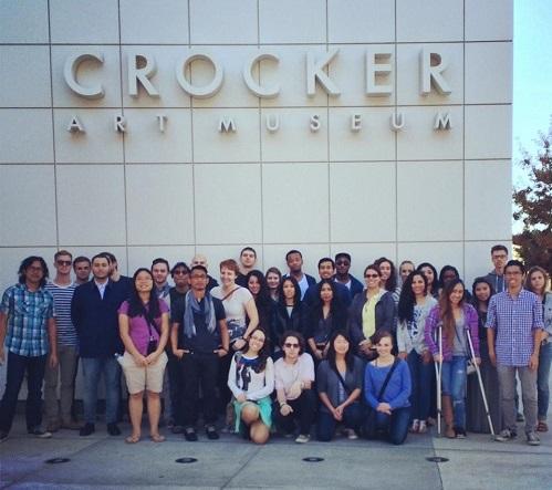 PUC Visual Arts students at the Crocker Museum in Sacramento.