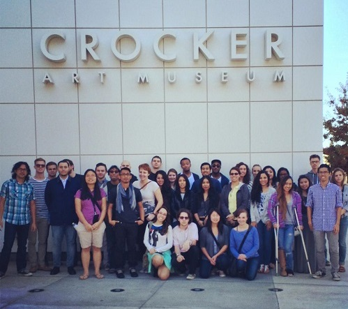 PUC Visual Arts students at the Crocker Museum in Sacramento.