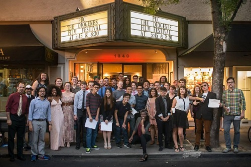 Students at last year's annual Diogenes Film Festival.