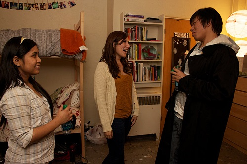 Students visit during the annual Dorm Open House. (Andre Hall)