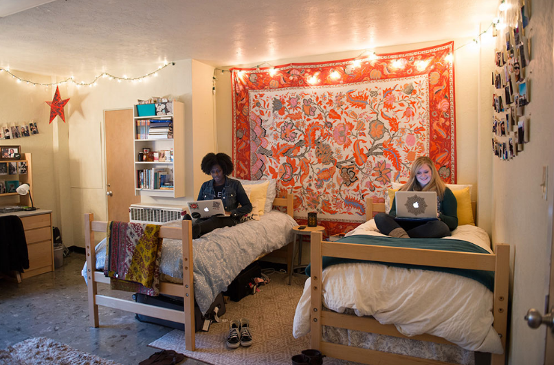 This is an image of a dorm room in Winning Hall