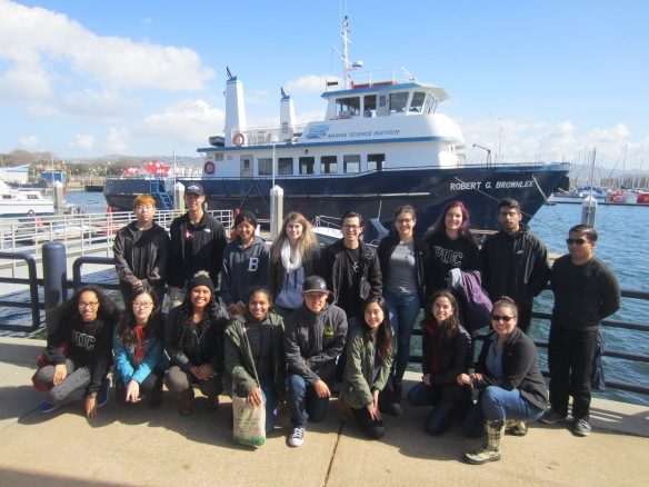 The Marine Scicence class following an excursion on San Francisco Bay.